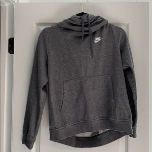 COPY - Nike Heather Gray High Neck Hoodie